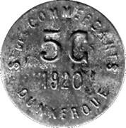 5 centimes - Société des Commerçants (fer) - Dunkerque [59] – avers