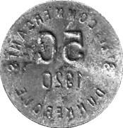 5 centimes - Société des Commerçants (fer) - Dunkerque [59] – revers