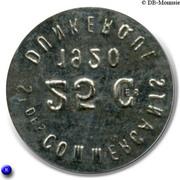 25  centimes - Société des Commerçants (Fer) - Dunkerque [59] – avers