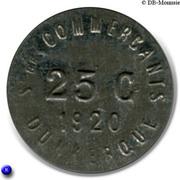 25  centimes - Société des Commerçants (Fer) - Dunkerque [59] – revers
