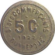 5 centimes - Société des Commerçants (Laiton) - Dunkerque [59] – avers