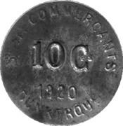 10 centimes - Société des Commerçants (Fer) - Dunkerque [59] – avers