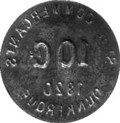 10 centimes - Société des Commerçants (Fer) - Dunkerque [59] – revers