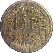 10 Centimes - Société des Commerçants (Laiton) - Dunkerque [59] – avers
