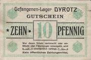 10 pfennig - Camp de Prisonniers de Dyrotz – avers