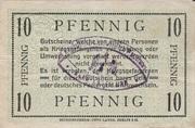 10 pfennig - Camp de Prisonniers de Dyrotz – revers