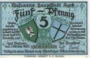 5 Pfennig (Lyck) – avers