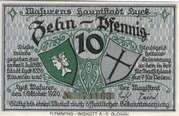 10 Pfennig (Masurens Hauptstadt Lyck; East Prussia) – avers