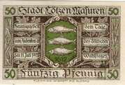 50 pfennig (Lötzen) – avers