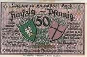 50 Pfennig (Lyck) – avers