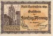 50 Pfennig (Stadt Bartenstein; East Prussia)) – avers