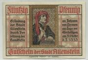 50 Pfennig (Allenstein, Stadt) – avers