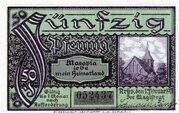50 Pfennig (Arys) – revers