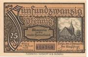 25 Pfennig (Arys) – revers