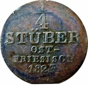¼ Stuber - George IV – revers
