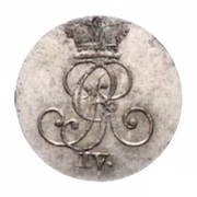 1 stüber George IV – avers