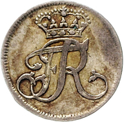 1/24 thaler Friedrich II – avers