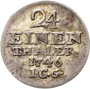 1/24 thaler Friedrich II – revers