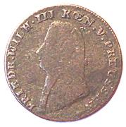 1 stüber Friedrich Wilhelm III – avers