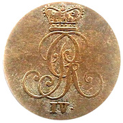 2 stüber George IV – avers