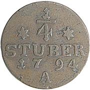 ¼ Stuber - Friedrich Wilhelm II (Eastern Friesland) – revers