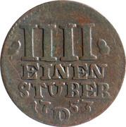 ¼ stüber Friedrich II – revers