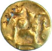 Fanam - Bhanudeva IV (Eastern Gangas) – avers