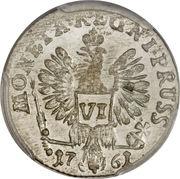 6 gröscher - Elisabeth I – revers