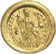 Solidus - Théodose II (CONCORDIA AVGG, Constantinople) -  avers