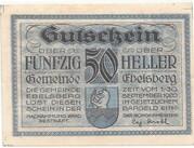 50 Heller (Ebelsberg) – avers