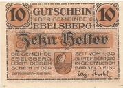 10 Heller (Ebelsberg) – avers