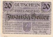 20 Heller (Ebelsberg) – avers