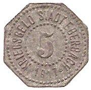 5 pfennig - Eberbach – avers