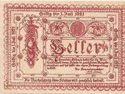 10 Heller (Edlbach) – avers