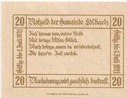 20 Heller (Edlbach) – revers