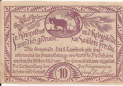 10 Heller (Edt bei Lambach) – revers