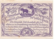 50 Heller (Edt bei Lambach) – revers
