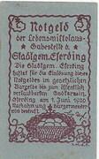 15 Heller (Eferding) – revers