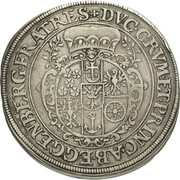 1 Thaler - Johann Christian a Johann Seyfried (Krummau) – revers