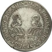 1 Thaler - Johann Christian a Johann Seyfried (Krummau) – avers