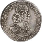 1 thaler Johann Anton -  avers