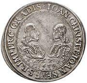 1 ¼ Thaler - Johann Christian a Johann Seyfried – avers