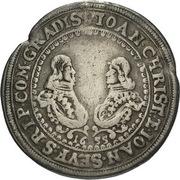 ¼ Thaler - Johann Christian a Johann Seyfried (Krummau) – avers