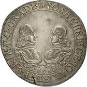 ½ Thaler - Johann Christian a Johann Seyfried (Krummau) – avers