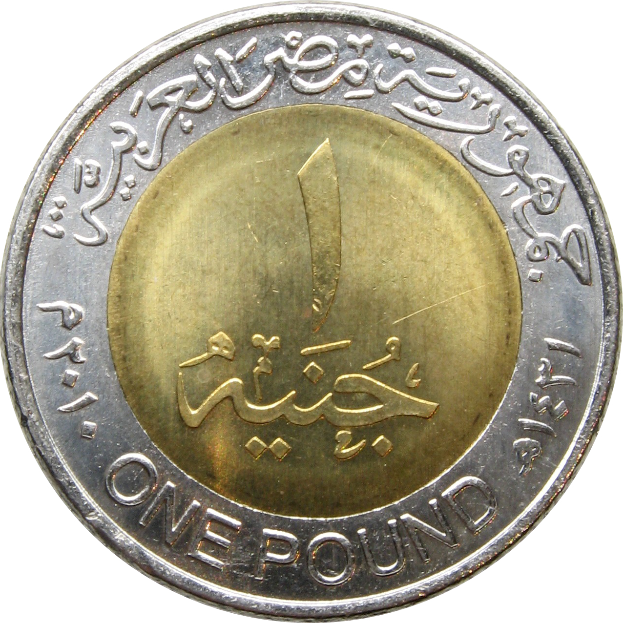 1 Pound Magnetique Egypte Numista