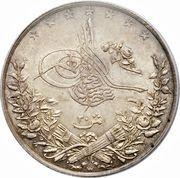 20 qirsh - Abdul Hamid II -  avers