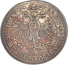 1 thaler Johann Christoph de Westerstetten – revers