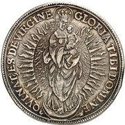 1 thaler Johann Conrad de Gemmingen – revers