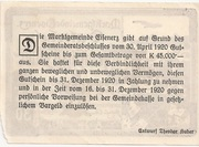 30 Heller (Eisenerz) – revers