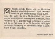 50 Heller (Eisenerz) – revers